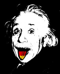 Einstein scoate limba germana